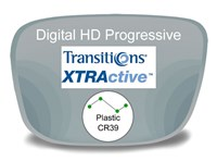 Digital (HD) Progressive Plastic Transitions XTRActive Prescription Eyeglass Lenses