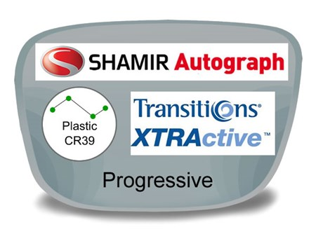 Shamir Autograph 2 Digital (HD) Progressive Plastic Transitions XTRActive Prescription Eyeglass Lenses