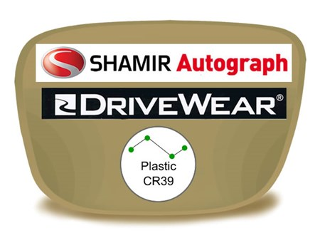 Shamir Autograph 2 Digital (HD) Progressive Plastic Drivewear Prescription Eyeglass Lenses