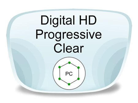 Digital (HD) Progressive Polycarbonate Prescription Eyeglass Lenses