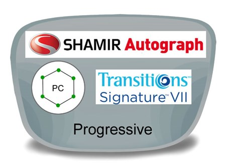 Shamir Autograph 2 Digital (HD) Progressive Polycarbonate Transitions VI Prescription Eyeglass Lenses