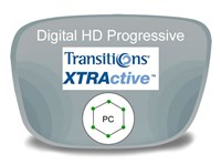 Digital (HD) Progressive Polycarbonate Transitions XTRActive Prescription Eyeglass Lenses