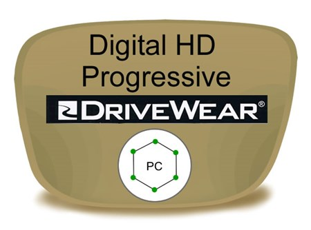 Digital (HD) Progressive Polycarbonate Drivewear Prescription Eyeglass Lenses