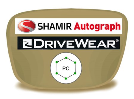Shamir Autograph 2 Digital (HD) Progressive Polycarbonate Drivewear Prescription Eyeglass Lenses