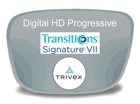 Digital (HD) Progressive Trivex Transitions VI Prescription Eyeglass Lenses