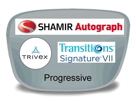 Shamir Autograph 2 Digital (HD) Progressive Trivex Transitions VI Prescription Eyeglass Lenses
