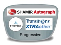 Shamir Autograph 2 Digital (HD) Progressive Trivex Transitions XTRActive Prescription Eyeglass Lenses