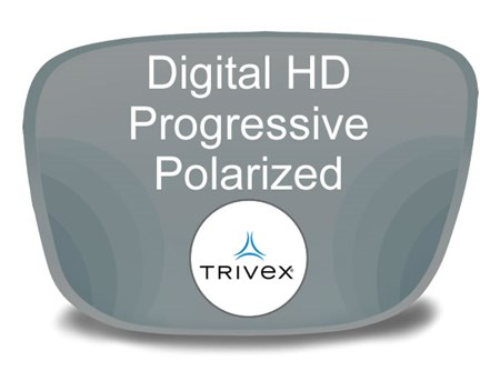 Digital (HD) Progressive Trivex Polarized Prescription Eyeglass Lenses