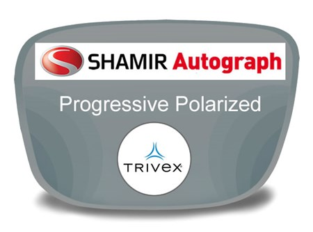 Shamir Autograph 2 Digital (HD) Progressive Trivex Polarized Prescription Eyeglass Lenses