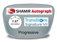 Shamir Autograph 2 Digital (HD) Progressive High Index 1.67 Transitions VI Prescription Eyeglass Lenses