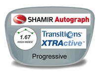 Shamir Autograph 2 Digital (HD) Progressive High Index 1.67 Transitions XTRActive Prescription Eyeglass Lenses