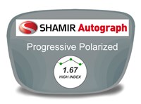 Shamir Autograph 2 Digital (HD) Progressive High Index 1.67 Polarized Prescription Eyeglass Lenses