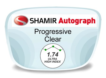 Shamir Autograph 2 Digital (HD) Progressive High Index 1.74 Prescription Eyeglass Lenses