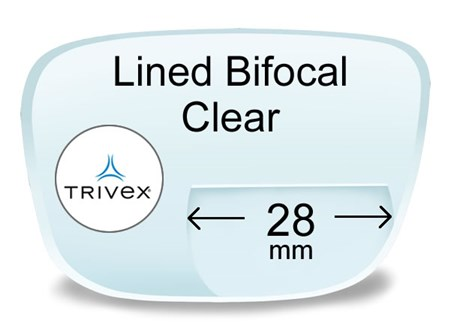 Lined Bifocal 28mm Trivex Prescription Eyeglass Lenses