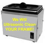 Ultrasonic Frame Cleaning