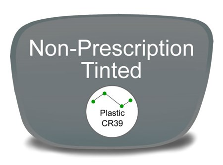Non-Prescription Plastic Tinted Eyeglass Lenses