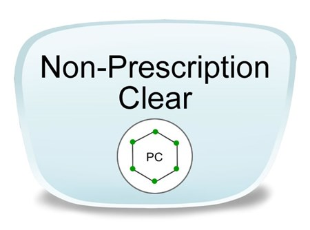 Non-Prescription Polycarbonate Eyeglass Lenses
