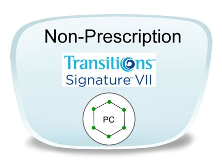 Non-Prescription Polycarbonate Transitions VI Eyeglass Lens