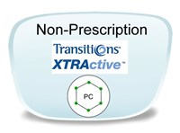 Non-Prescription Polycarbonate Transitions XTRActive Eyeglass Lenses