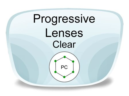 Progressive (no-line) Polycarbonate Prescription Eyeglass Lenses