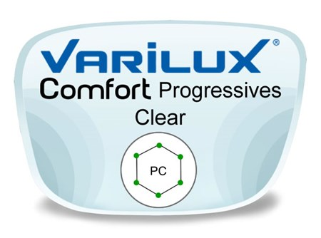 Varilux Comfort 2 Progressive (no-line) Polycarbonate Prescription Eyeglass Lenses