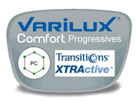 Varilux Comfort 2 Progressive (no-line) Polycarbonate Transitions XTRActive Prescription Eyeglass Lenses