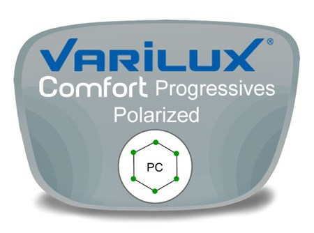 Varilux Comfort 2 Progressive (no-line) Polycarbonate Polarized Prescription Eyeglass Lenses