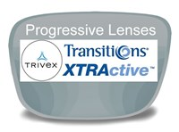 Progressive (no-line) Trivex Transitions XTRActive Prescription Eyeglass Lenses