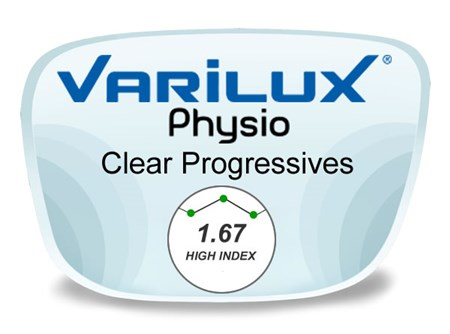 Varilux Physio Progressive (no-line) High Index 1.67 Prescription Eyeglass Lenses