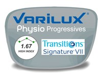Varilux Physio Progressive (no-line) High Index 1.67 Transitions VI Prescription Eyeglass Lenses