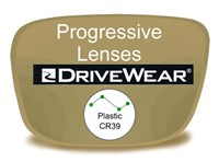Progressive (no-line) Plastic Drivewear Prescription Eyeglass Lenses