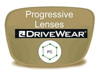 Progressive (no-line) Polycarbonate Drivewear Prescription Eyeglass Lenses