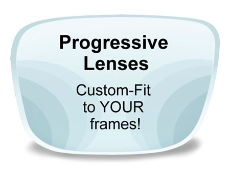 Progressive (no-line) Plastic Prescription Eyeglass Lens