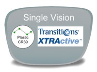 Single Vision Plastic Transitions XTRActive Prescription Eyeglass Lenses