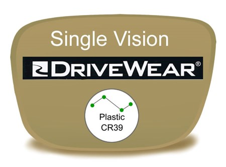 Single Vision Plastic Drivewear Prescription Eyeglass Lenses