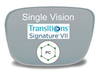 Single Vision Polycarbonate Transitions VI Prescription Eyeglass Lenses