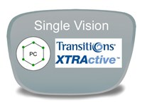 Single Vision Polycarbonate Transitions XTRActive Prescription Eyeglass Lenses