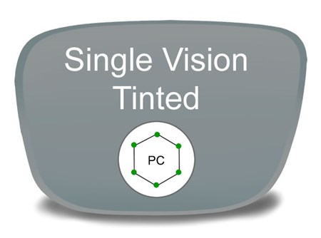 Single Vision Polycarbonate Tinted Prescription Eyeglass Lenses