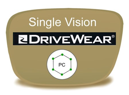 Single Vision Polycarbonate Drivewear Prescription Eyeglass Lenses