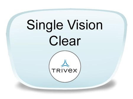 Single Vision Trivex Prescription Eyeglass Lenses