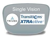 Single Vision Trivex Transitions XTRActive Prescription Eyeglass Lenses