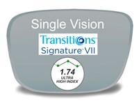 Single Vision High Index 1.74 Transitions VI Prescription Eyeglass Lenses