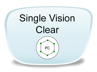 Single Vision Polycarbonate Prescription Eyeglass Lenses