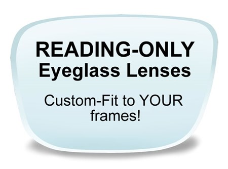 Reading Lenses Online - Single Vision Reading Only Lenses