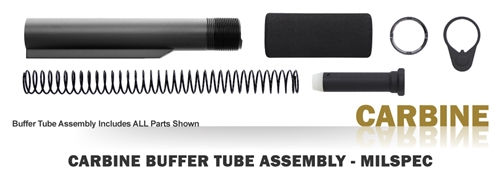 Buffer Tube Assembly - Carbine - Milspec - Black