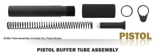 Buffer Tube Assembly - Pistol - Black
