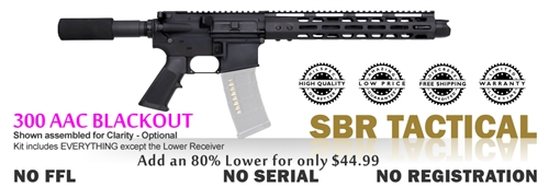 SBR Tactical Kit 80% - 300 AAC BLKOUT