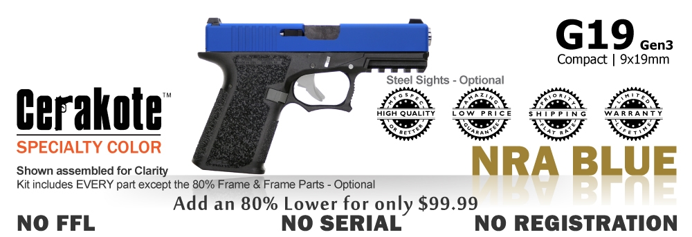 G19 Kit 80% - Compact - NRA Blue