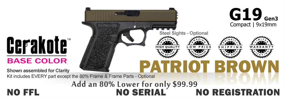 G19 Kit 80% - Compact - Patriot Brown