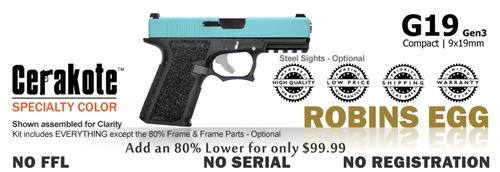 G19 Kit 80% - Compact - Robins Egg